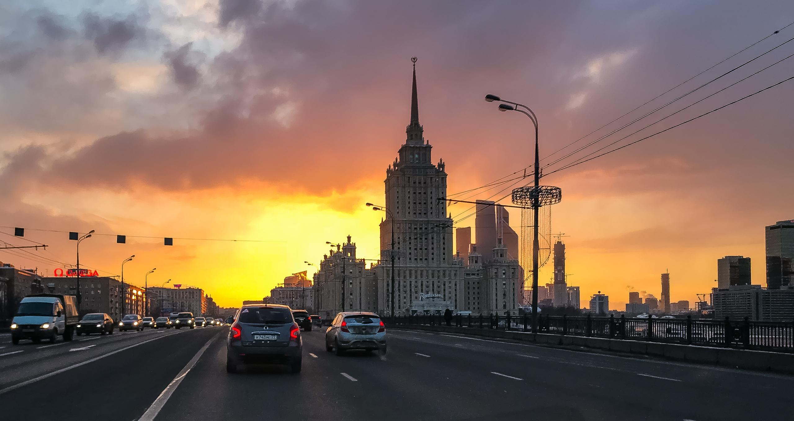 Дороги Москвы через лобовое стекло
