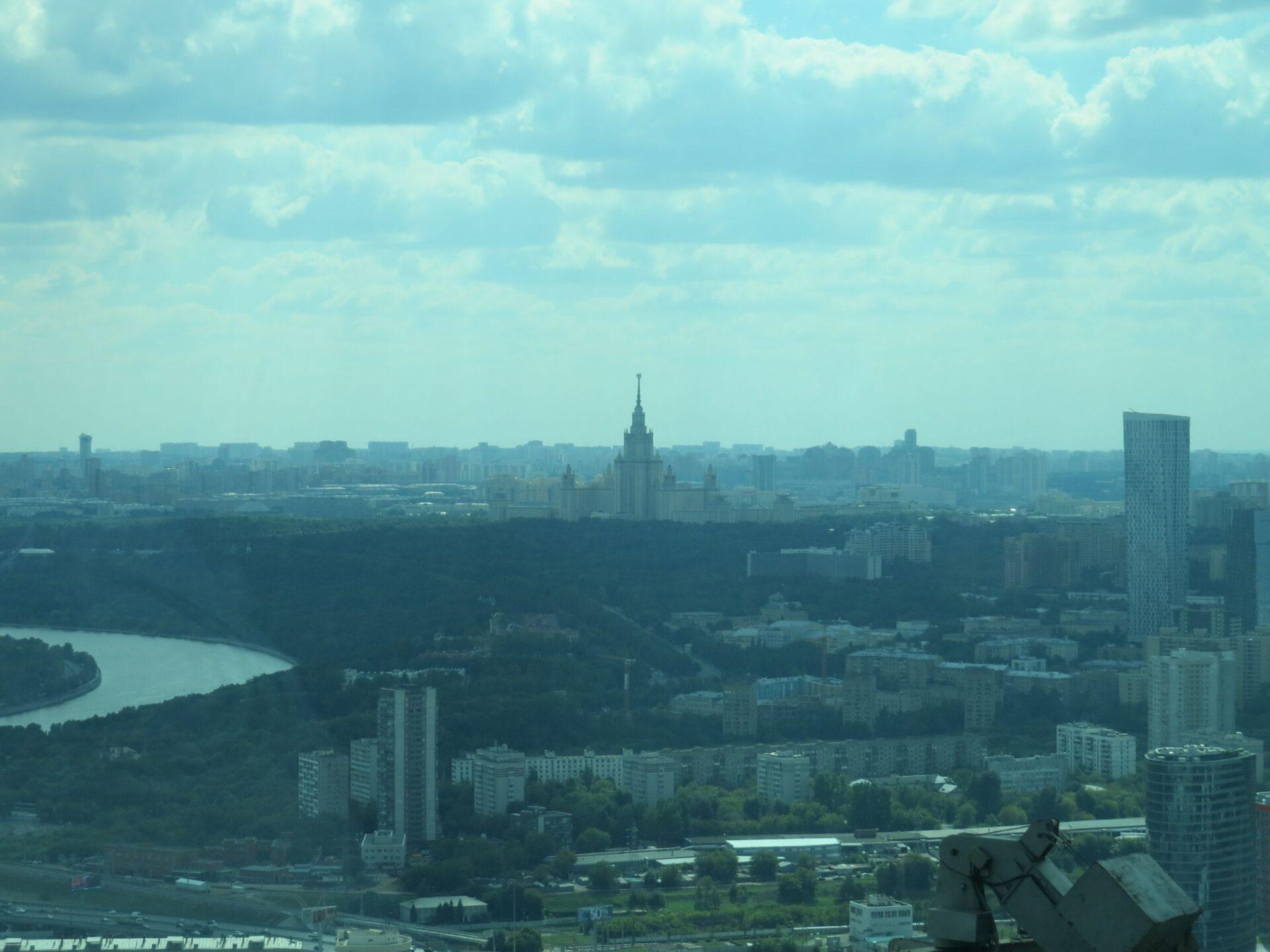 Москва Сити иколесо обозрения наВДНХ