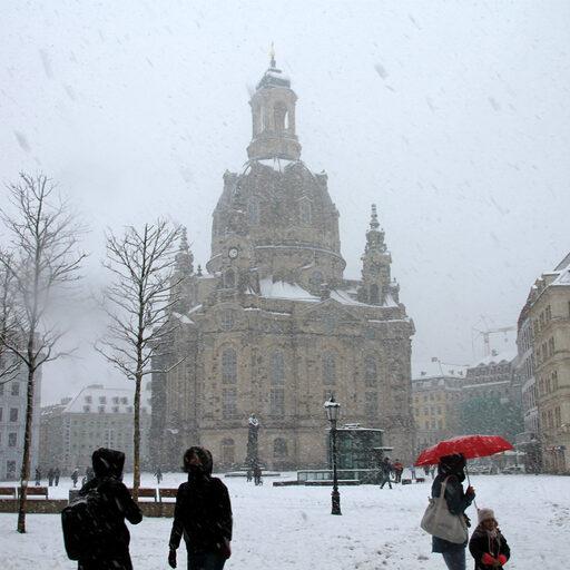 Метель в Дрездене