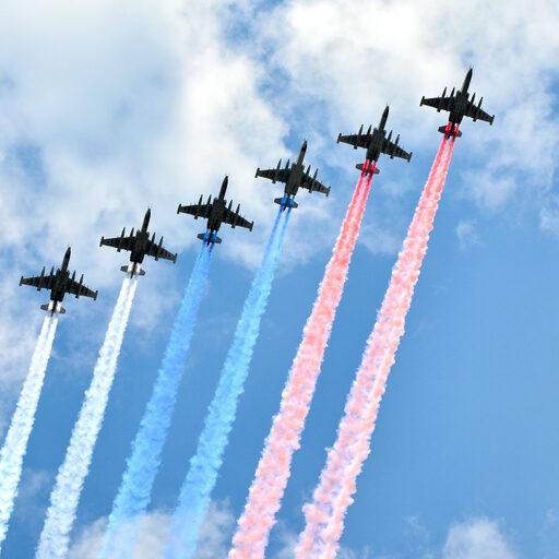 Воздушный парад в Москве